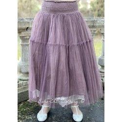 skirt / petticoat PIVOINE plum cotton tulle