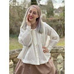 shirt CHARLOT ecru stripped cotton Les Ours - 1