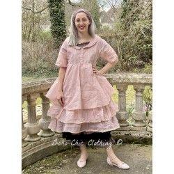 dress SANDIE pink organza Les Ours - 1
