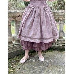 skirt / petticoat LOU purple gingham linen