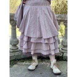 skirt / petticoat JOSEPHINE purple gingham linen