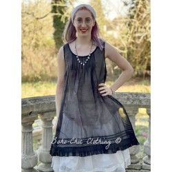 dress LAURINE black organza Les Ours - 1