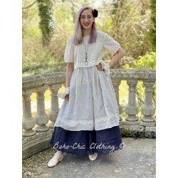 dress 55694 Vintage black dot voile Ewa i Walla - 1