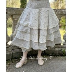 skirt / petticoat 22103 Vintage black check and dot voile