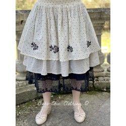 skirt / petticoat 22102 Vintage black dot voile