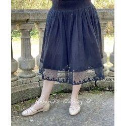skirt / petticoat 22993 Vintage black embroidered tulle