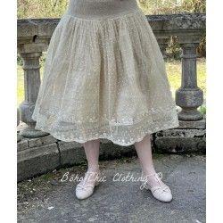 skirt / petticoat 22993 Sand embroidered tulle