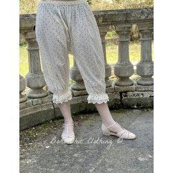 panty / pants 11357 Vintage black dot voile