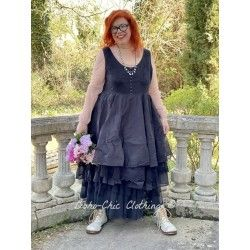 dress 55687 Vintage black organdie Ewa i Walla - 1