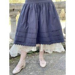skirt 22106 Vintage black shirt cotton Ewa i Walla - 1