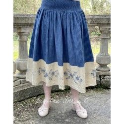 skirt / petticoat 22996 Pin stripe linen