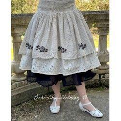 skirt / petticoat 22102 Vintage black check voile