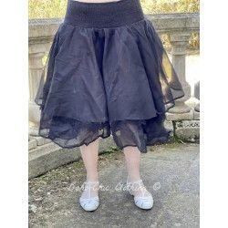 skirt / petticoat 22991 Vintage black organdie