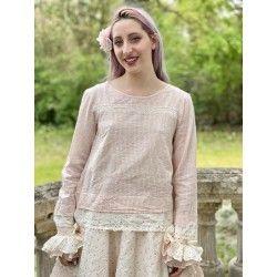 blouse 44772 Red check voile Ewa i Walla - 1