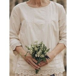 blouse 44789 Cream shirt cotton