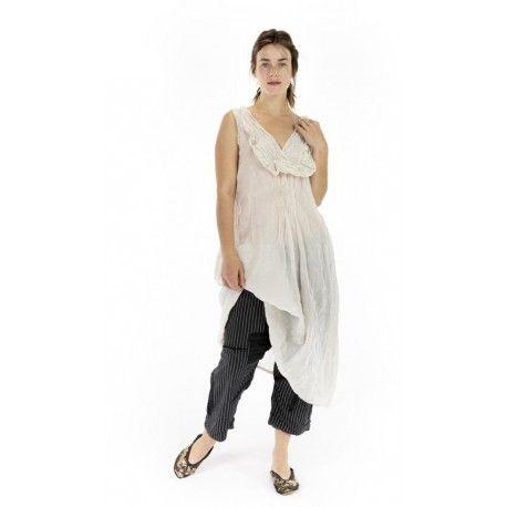 robe Ramie Luz Lace Collar in Moonlight