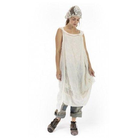 robe Ramie Anna Cecilie in Antique White Magnolia Pearl - 1