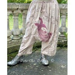 pantalon Dragon Embroidered Garcon in Lilac Magnolia Pearl - 1