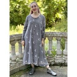 robe Crescent Moon and Stars Dylan in Ozzy Magnolia Pearl - 1