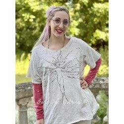 T-shirt Queen of The Dragonfly Fairies in Moonlight Magnolia Pearl - 1
