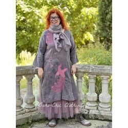 tunic Dragon Embroidered Parnassus in Ozzy Magnolia Pearl - 1