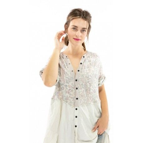 robe-chemise Sybeal in Acanthus Sun Magnolia Pearl - 1