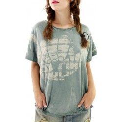 T-shirt Hang Loose in Faded Rainier Magnolia Pearl - 1
