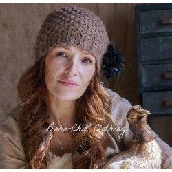 bonnet VICTORIA laine marron glacé
