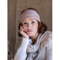 headband CELESTE pink striped cotton voile Les Ours - 1