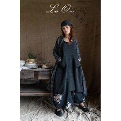 dress ALEXIS dark grey wool Les Ours - 1