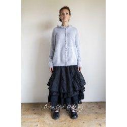 long cardigan GISELE light grey wool Les Ours - 1