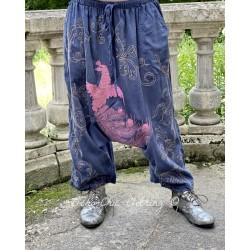 pantalon Dragon Embroidered Garcon in Indigo Magnolia Pearl - 1