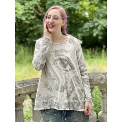 T-shirt Freedom of Conscience Dylan in Moonlight Magnolia Pearl - 1