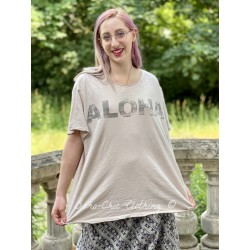 T-shirt Aloha in Faded Lilac