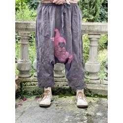 pantalon Dragon Embroidered Garcon in Ozzy Magnolia Pearl - 1