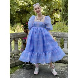 robe French Puff Cindy Plaid