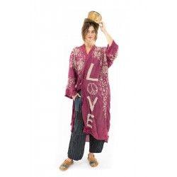 jacket Blessed Kimono in Hibiscus Magnolia Pearl - 1