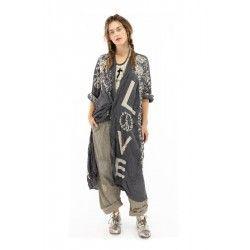 jacket Blessed Kimono in Midnight Magnolia Pearl - 1