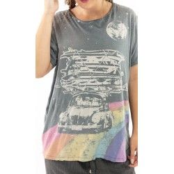 T-shirt Happy in Ozzy Magnolia Pearl - 1