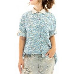 shirt Boyfriend Shirt In Texas Magnolia Pearl - 1