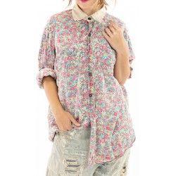 shirt Boyfriend Shirt In Clover Magnolia Pearl - 1