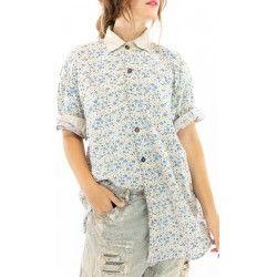 shirt Boyfriend Shirt In Bluebella Magnolia Pearl - 1
