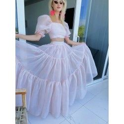 skirt and top Favourite + The Crop Top Candy Floss Selkie - 1