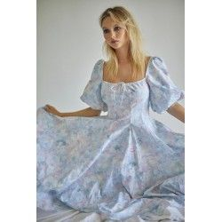 robe Day Dress Monet Print Selkie - 1