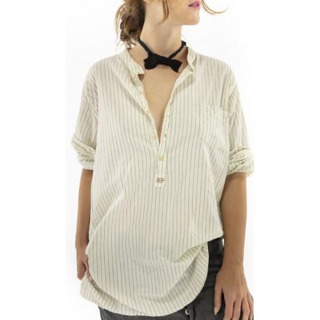 chemise Idgy Mens in Humphrey Magnolia Pearl - 1