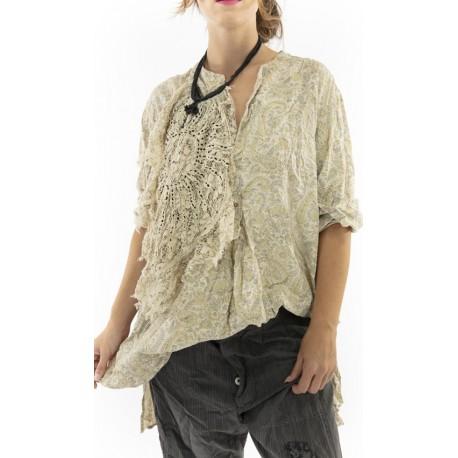 chemise Ines in Fleuri Magnolia Pearl - 1