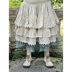 skirt 22122 Bone white shirt cotton