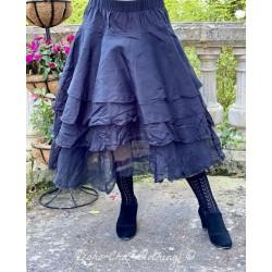 skirt / petticoat 22126 Vintage black hard voile