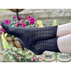 socks 77826 Black cotton