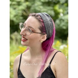 headband CELESTE checked cotton voile